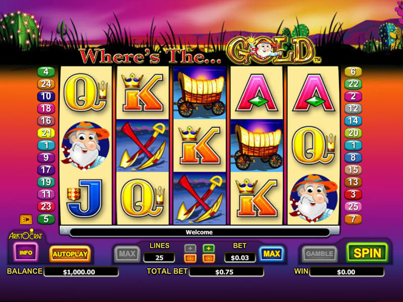 Where's The Gold Pokie Review: Play Aristocrat Slots for Free